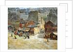 Street scene in Montmartre by Abel-Truchet