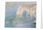 Etretat: Le Manneport, reflections on the water by Claude Monet
