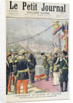 Title page depicting the Emperor of Russia in Frence laying the first stone of Pont Alexandre III by French School