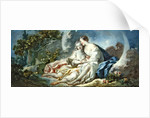 Jupiter disguised as Diana tries to seduce Callisto by Jean-Honore Fragonard