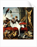 Interior of an office, or still life with game, poultry and fruit by Frans Snyders or Snijders
