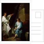 St Sebastian preaching the faith of Diocletian in prisons by Francois Andre Vincent