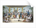 Riotous scene in a tavern during the period of the French Revolution by Etienne Bericourt