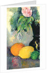 Flowers and fruits by Paul Cezanne