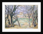 Trees and houses by Paul Cezanne