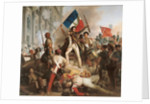Fighting at the Hotel de Ville by Jean Victor Schnetz