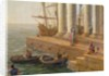 Harbour scene, detail from 'Departure of Ulysses from the land of the Feaci' by Claude Lorrain