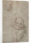Madonna and child and head of an old man by Raphael