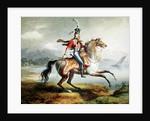 Equestrian self portrait by Louis Lejeune