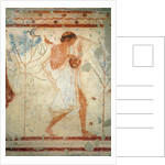 Musician playing the zither or the lyre by Etruscan