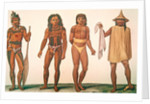 Natives of the islands of Iros, Penelap and Aouara in the Caroline Islands archipelago by French School