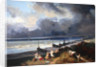 View of Dieppe by Louis Eugene Gabriel Isabey