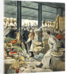 Strike of the grocers, a brawl by French School