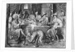 Life of Christ, the Meal at the House of Simon the Pharisee, preparatory study of tapestry cartoon for the Church Saint-Merri in Paris by Henri Lerambert
