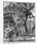 Life of Christ, Christ's Descent into Limbo, preparatory study of tapestry cartoon for the Church Saint-Merri in Paris by Henri Lerambert