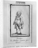 Caricature of Andre Boniface Louis of Riqueti, Viscount of Mirabeau, nicknamed Mirabeau-Tonneau by Jacques Louis David