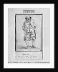 Caricature of Honore Gabriel Riqueti, Comte de Mirabeau by Jacques Louis David