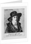 Louis Antoine Leon de Saint-Just by Jacques Louis David