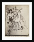 Half naked man supported by three men by Charles Le Brun