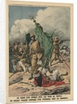 An Italian soldier seizing the green standard of Prophet Muhammed by French School