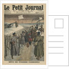 Foreigners coming out of Andrinople, front cover illustration from 'Le Petit Journal', supplement illustre by French School