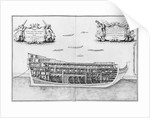 Cross-section of the fully completed inside of a vessel by French School