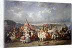 Carnival in the Place de la Concorde, Paris by Ernest Seigneurgens