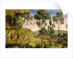 Goatherds and shepherds making music and dancing by Pietro Perugino