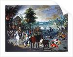 Pillage Scene in a Village by Sebastian Vrancx