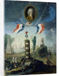 An Allegory of the Revolution with a portrait medallion of Jean-Jacques Rousseau by Nicolas Henri Jeaurat de Bertry