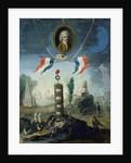An Allegory of the Revolution with a portrait medallion of Jean-Jacques Rousseau by Nicolas Henri Jeaurat de Bertry