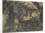 Family supper in the evening by Leon Augustin Lhermitte