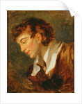 Head of a Young Man by Jean-Honore Fragonard
