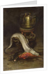 Still life with fish and cauldron by Joseph Bail