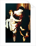 Detail of Madonna of the Pilgrims by Michelangelo Merisi da Caravaggio
