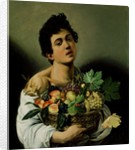 Youth with a Basket of Fruit by Michelangelo Merisi da Caravaggio