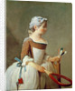 Girl with Racket and Shuttlecock by Jean-Baptiste Simeon Chardin