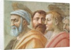 St. Peter Distributing the Common Goods of the Church, and the Death of Ananias by Tommaso Masaccio
