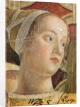Head of a woman, detail of the Marquis Ludovico III Gonzaga and his Court in the Camera degli Sposi by Andrea Mantegna