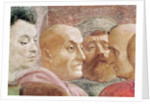 Detail of heads of men to the left of the Emperor by T. & Lippi
