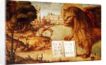 Detail of the Lion of St. Mark by Vittore Carpaccio