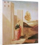 Queen Vashti leaving the royal palace by Filippino Lippi