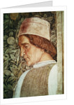 Detail of the head of a groom by Andrea Mantegna