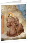 Saint Francis receiving the Stigmata, detail of Saint Francis by Giotto di Bondone