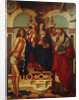 Madonna and Child enthroned with Saint Jerome and Saint Sebastian by Andrea Mantegna