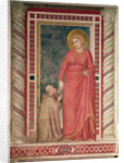 Bishop Pontano kneeling before St. Mary Magdalene, Magdalene Chapel by Giotto di Bondone