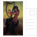 Muse Playing the Harp by Antoine Auguste Ernest Herbert or Hebert