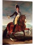 Equestrian portrit of Ferdinand VII by Francisco Jose de Goya y Lucientes