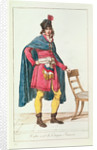 Civilian costume for a French citizen, engraved by Vivant Dominique Denon by Jacques Louis David