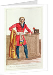 Civilian costume for a French citizen for indoors by Jacques Louis David